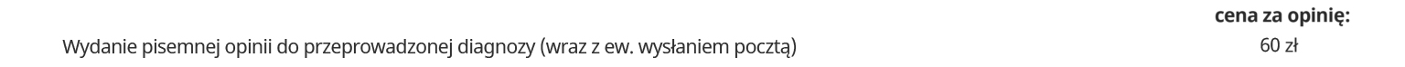 logopeda cennik